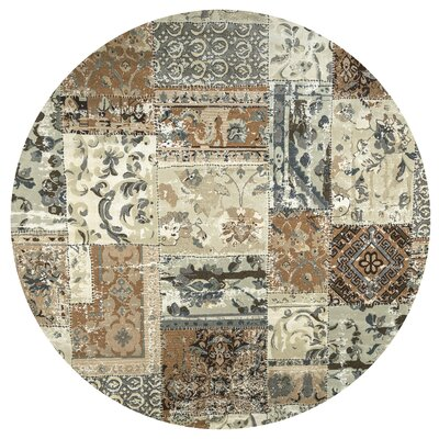 Hand-Tufted Area Rug Rug Size: Round 710