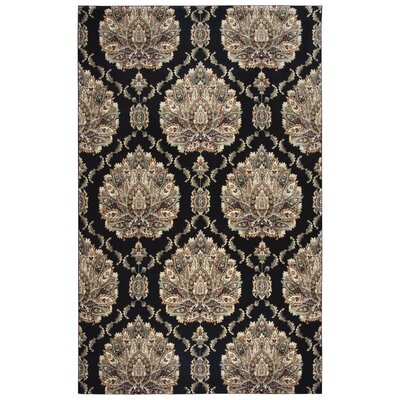Black/Brown Area Rug Rug Size: Rectangle 53 x 77