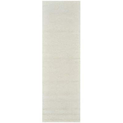 Hand-Tufted Off-White Area Rug Rug Size: Runner 26 x 8