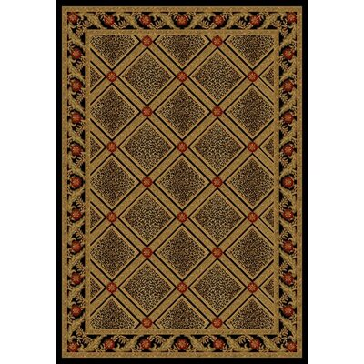 Diamond Leopard Black Contemporary Rug Rug Size: 53 x 77
