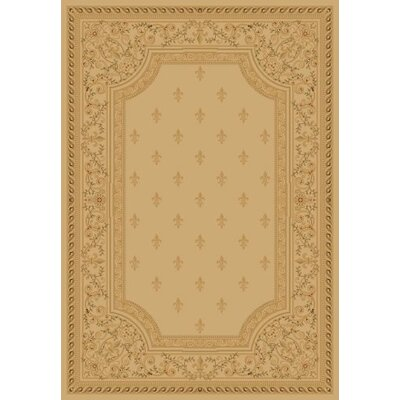 Ivory Fleur De Lys Area Rug Rug Size: Rectangle 53 x 77