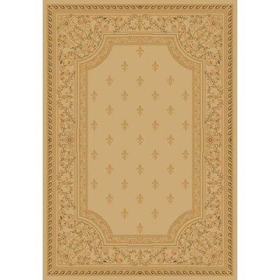 Ivory Fleur De Lys Area Rug Rug Size: 710 x 1010