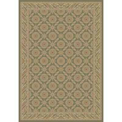 Heather Green Aubusson Area Rug Rug Size: 53 x 77