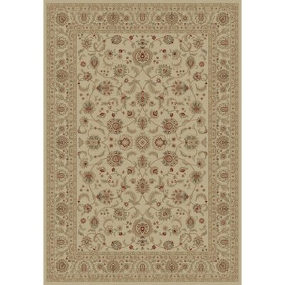 Ivory Bergama Area Rug Rug Size: Rectangle 53 x 77