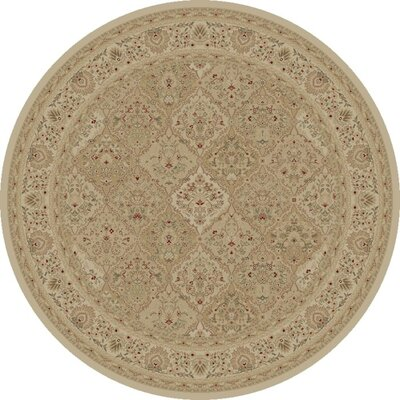 Mantra Ivory Oriental Rectangular Rug Rug Size: Round 53