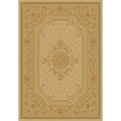 Ivory Savonnerie Area Rug Rug Size: Rectangle 53 x 77