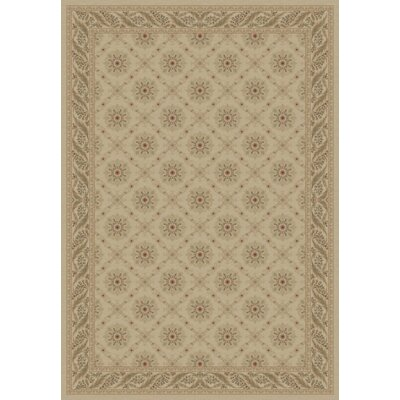 Ivory Aubusson Area Rug Rug Size: 67 x 96