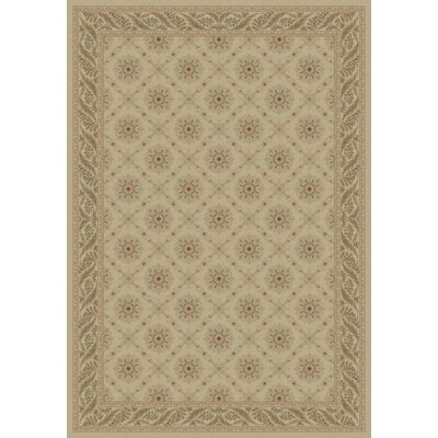 Ivory Aubusson Area Rug Rug Size: 53 x 77