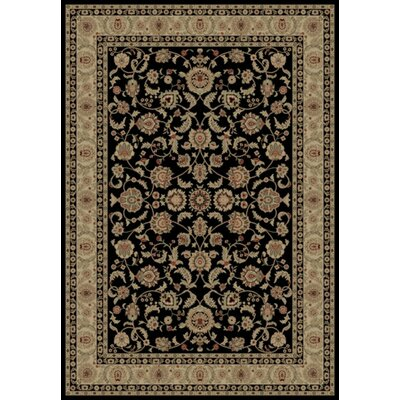 Black Bergama Area Rug Rug Size: Rectangle 89 x 123