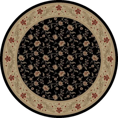 Black Serenity Area Rug Rug Size: Round 53