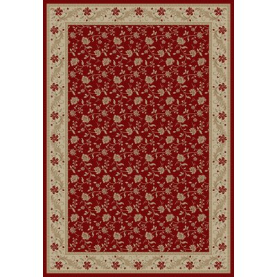 Imperial Charlemagne Red Serenity Area Rug Rug Size: Rectangle 53 x 77
