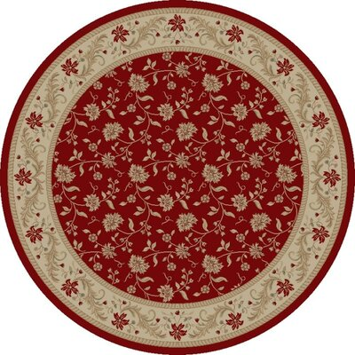Imperial Charlemagne Red Serenity Area Rug Rug Size: Round 710