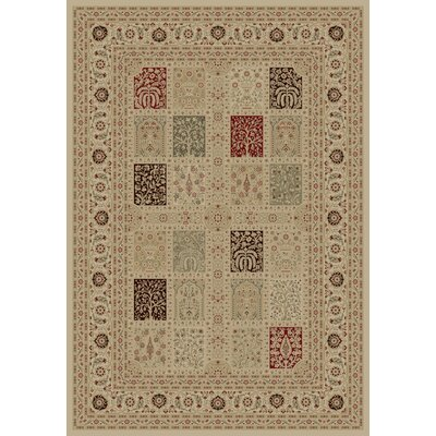 Ivory Magnificent Panel Area Rug Rug Size: Rectangle 53 x 77