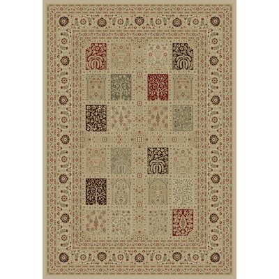 Ivory Magnificent Panel Area Rug Rug Size: 89 x 123