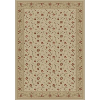 Ivory Serenity Rug Rug Size: Rectangle 89 x 123