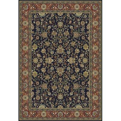Kashmir Sarouk Black Rug Rug Size: 93 x 126