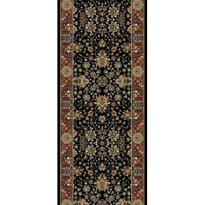 Kashmir Sarouk Black Rug Rug Size: 2 x 73