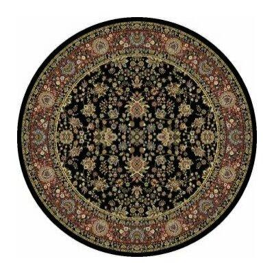 Kashmir Sarouk Black Rug Rug Size: Round 53
