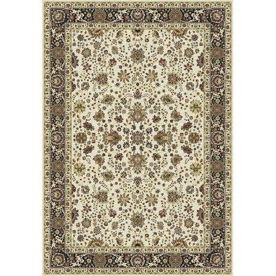 Kashmir Sarouk Ivory Rug Rug Size: 710 x 1010