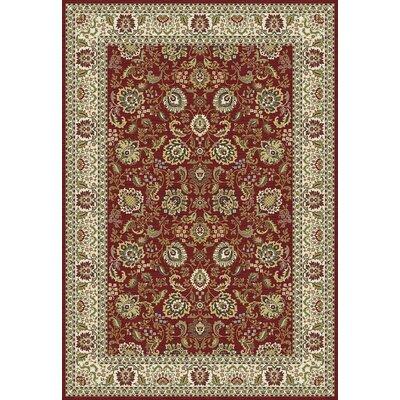 Kashmir Tabriz Red/Green Area Rug Rug Size: 67 x 96