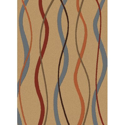 Lara Helix Desert Contemporary Rectangular Rug Rug Size: Rectangle 53 x 73
