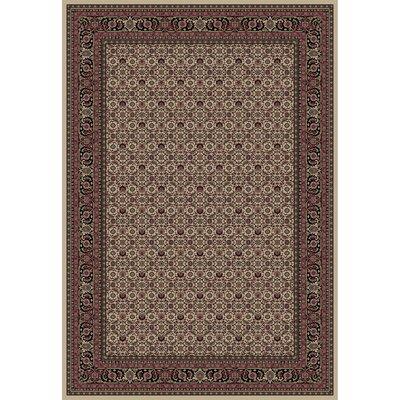 Persian Classics Oriental Herati Brown Area Rug Rug Size: 53 x 77