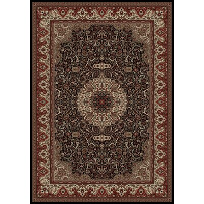 Persian Classics Maroon Oriental Isfahan Area Rug Rug Size: Rectangle 27 x 5