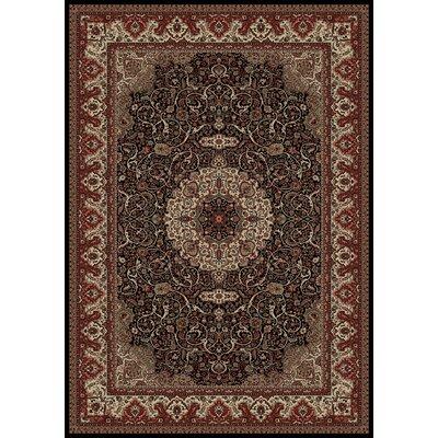 Persian Classics Maroon Oriental Isfahan Area Rug Rug Size: Runner 27 x 5