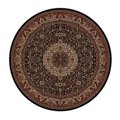 Persian Classics Maroon Oriental Isfahan Area Rug Rug Size: Round 710