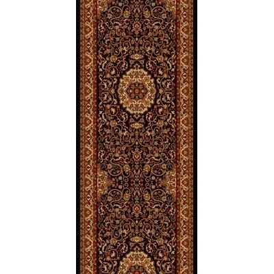 Persian Classics Maroon Oriental Isfahan Area Rug Rug Size: Runner 2 x 77