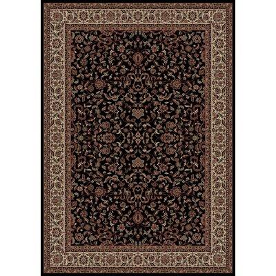 Persian Classics Black Oriental Kashan Area Rug Rug Size: 710 x 112