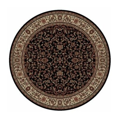 Persian Classics Black Oriental Kashan Area Rug Rug Size: Round 710