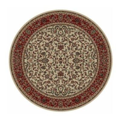 Persian Classics Oriental Kashan Area Rug Rug Size: Round 710