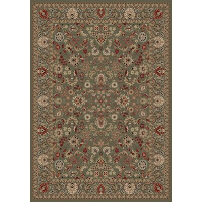 Persian Classics Oriental Mahal Green Area Rug Rug Size: Rectangle 27 x 5