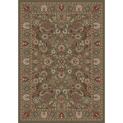 Persian Classics Oriental Mahal Green Area Rug Rug Size: 53 x 77
