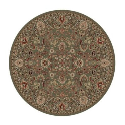 Persian Classics Oriental Mahal Green Area Rug Rug Size: Round 710