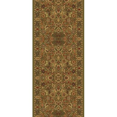 Persian Classics Oriental Mahal Green Area Rug Rug Size: Runner 2 x 77