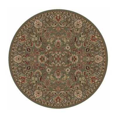 Persian Classics Oriental Mahal Green Area Rug Rug Size: Round 53