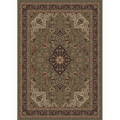 Persian Classics Oriental Medallion Green Area Rug Rug Size: 53 x 77