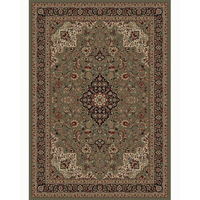 Persian Classics Oriental Medallion Green Area Rug Rug Size: 710 x 112