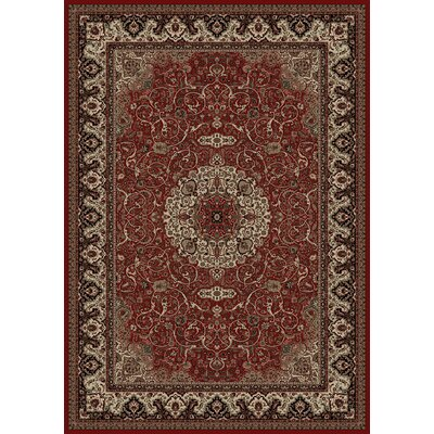 Persian Red Classics Oriental Isfahan Area Rug Rug Size: 53 x 77