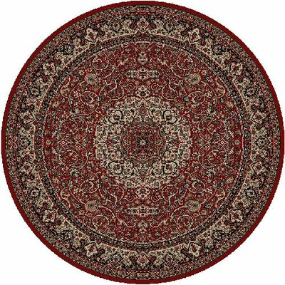 Persian Red Classics Oriental Isfahan Area Rug Rug Size: Round 710