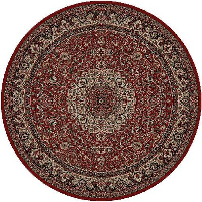 Persian Red Classics Oriental Isfahan Area Rug Rug Size: Round 53