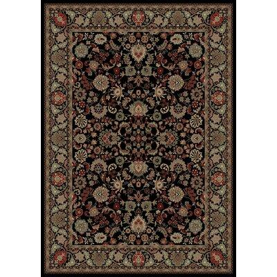 Persian Classics Oriental Mahal Black Area Rug Rug Size: Runner 27 x 5