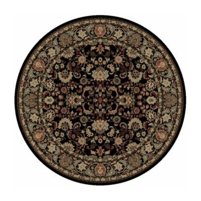 Persian Classics Oriental Mahal Black Area Rug Rug Size: Round 710