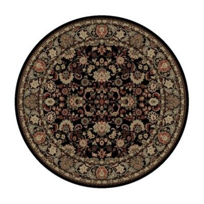 Persian Classics Oriental Mahal Black Area Rug Rug Size: Round 53