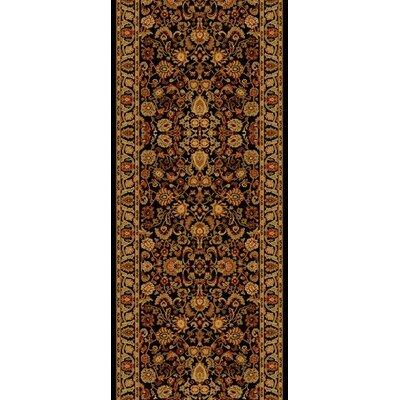 Persian Classics Oriental Mahal Black Area Rug Rug Size: Runner 2 x 77