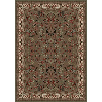 Persian Classics Oriental Sarouk Green Area Rug Rug Size: Rectangle 7'10