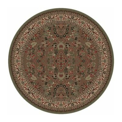 Persian Classics Oriental Sarouk Green Area Rug Rug Size: Round 53