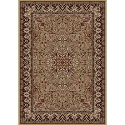 Persian Gold Classics Oriental Isfahan Area Rug Rug Size: 53 x 77